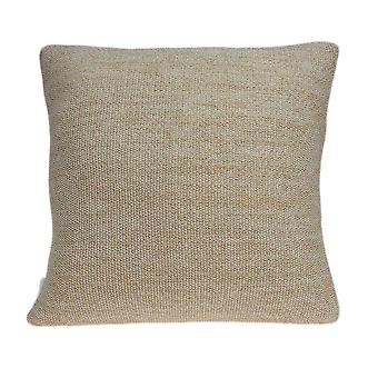 Casual Oatmeal Tweed Accent  Pillow Cover