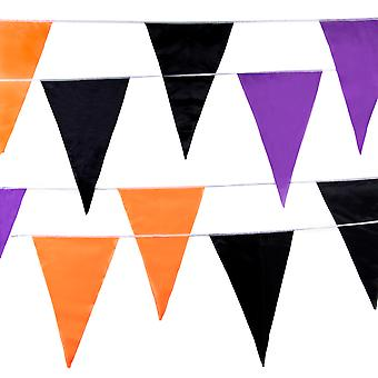 Multi-color Halloween Pennant, 100-feet, 48 Flags