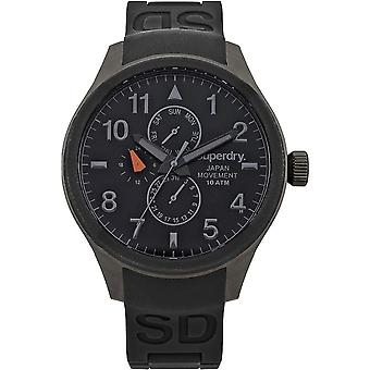 Superdry SYG110B - ronde Chronograph Mens Watch