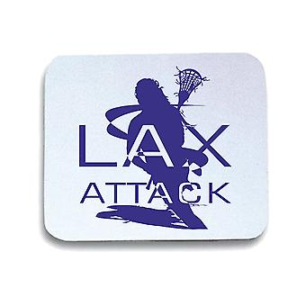 Tappetino mouse pad bianco wtc1353 lacrosse