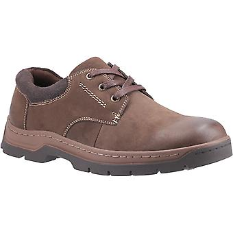 Cotswold Mens Thickwood Burnished Leather Casual Shoe Brown