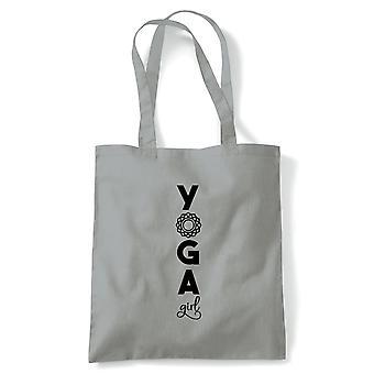 Yoga Girl, Tote - Yoga Reusable Canvas Bag Gift