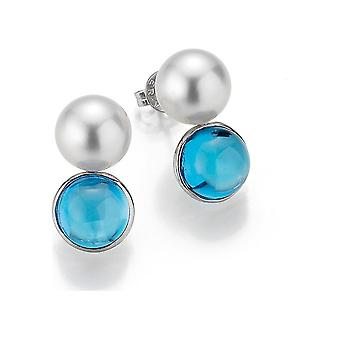Yana Nesper Studs South Sea Studs SD128 con Topas Azulen Oro Blanco SD128-7