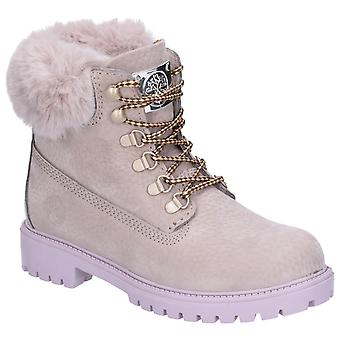 Darkwood Womens Larch Lace Up Boot Grey/Mauve