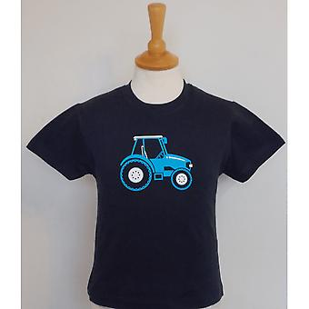 Maglietta British Country Collection Blue Tractor Childs - Navy Blue