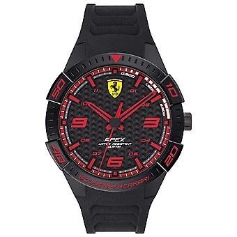 Scuderia Ferrari | Men's Apex | Black Rubber Strap | Black/Red Dial | 0830662 Watch