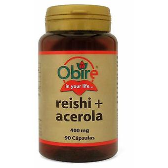 Obire Reishi and Acerola 400 mg 90 Capsules