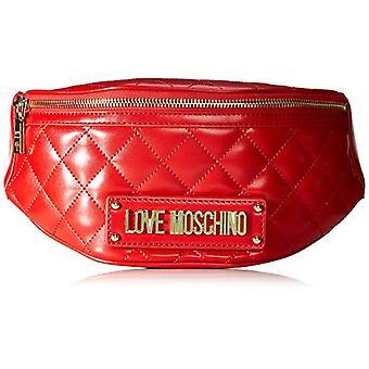 Kjærlighet Moschino Bag Vattert Nappa Pu kvinners håndleddspose (rød) 17x7x32 cm (B x H x L)