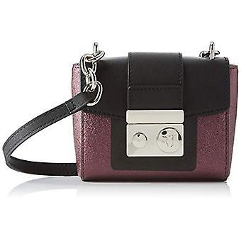 Trussardi Jeans New with Love Hunter SM EC Red Woman Shoulder Bag (Burgundy/Black) 1x13.6x15.5 cm (W x H x L)