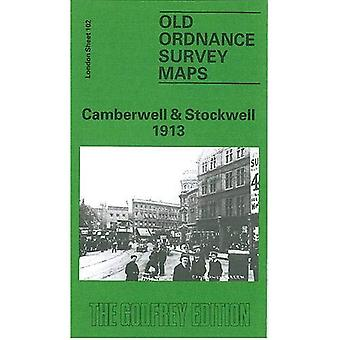 Camberwell en Stockwell 1913: London Sheet 102.3 (Old O.S. Maps of London)
