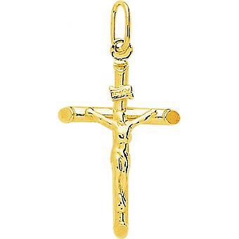 Pingente de cruz amarela ouro 375/1000 (9K)