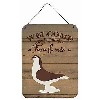 Large Pigeon Welcome Wall or Door Hanging Prints