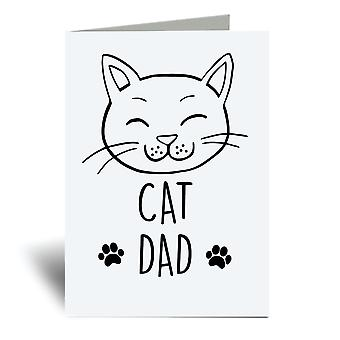 Cat Dad A6 Greeting Card