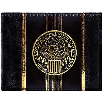 Fantastic Beasts And Where to Find Them Gold ID Card Bi-Fold Wallet