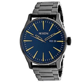 Nixon Men's Sentry 38 SS Blue Watch - A356-2983