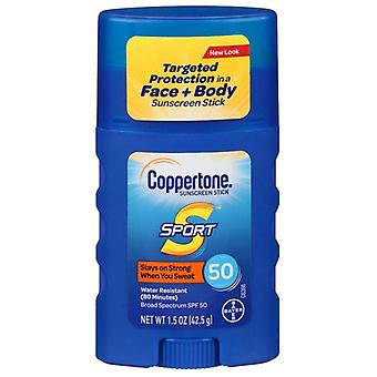 Coppertone sport sunscreen stick, broad spectrum, spf 50, 1.5 oz