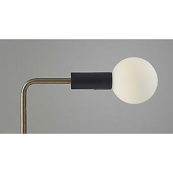 Retro White Globe LED Desk Lamp