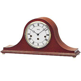 AMS 2193/8 طاولة ساعة ساعة الموقد الألوان الماهوجني الخشب الميكانيكية