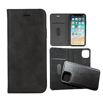 iPhone 11 - forever gamma 2i1 aitoa nahkaa mobiili lompakko - musta