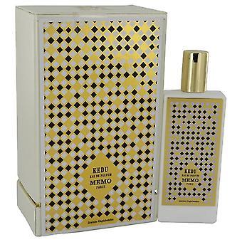 Kedu Eau De Parfum Spray (Unisex) By Memo 2.5 oz Eau De Parfum Spray