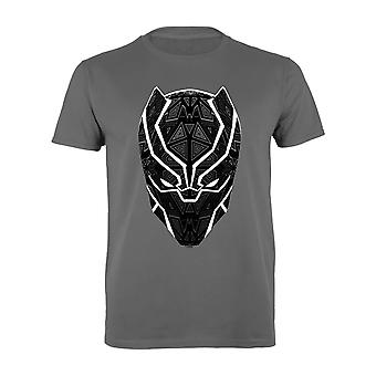 Marvel Black Panther T'Challa Mask Men's T-Shirt | Official Merchandise