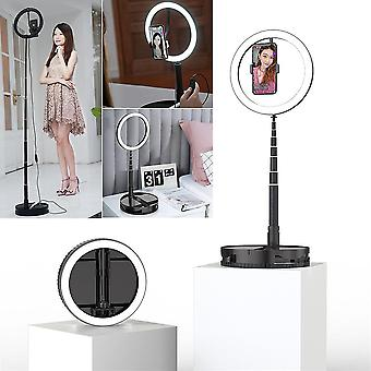 Bakeey g1 foldable led ring light dimmable selfie usb ring video light with 1.68m stand for video youtube tiktok makeup