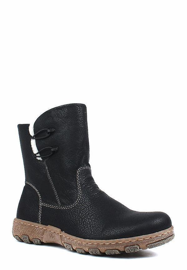 Rieker greece merino black ankle boots womens black h8zbz