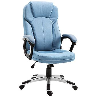 Vinsetto  Executive Office/ Gaming Chair Swivel Adjustable Padded Seat w/ Wheels Linen Rocking Blue