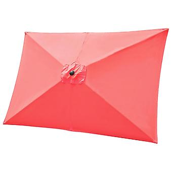 Yescom 10x6.5ft Universal Replacement Umbrella Canopy Sunshade Top Cover for Garden Patio Yard Beach Pool Market Table