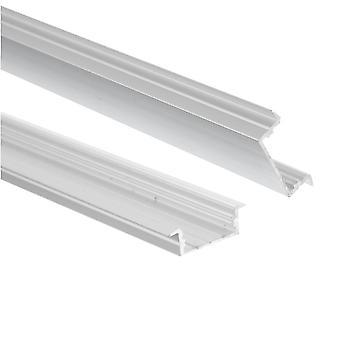 Jandei Profilo Alluminio Striscia LED 2 Metri Incassato 23.3 : 9.7mm con Top