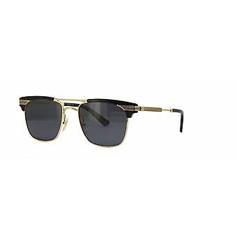 Gucci GG0287S 001 Black-Gold/Grey Sunglasses
