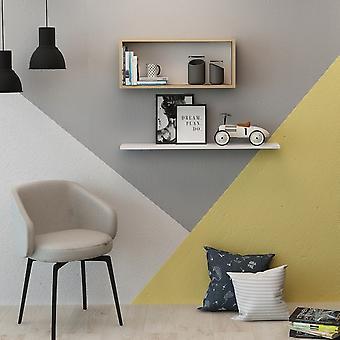 Półka Blanca Color Oak, Biały w melaminowym chipie, pudełko L45xP18xA30 cm, L80xP18xA1.8 cm