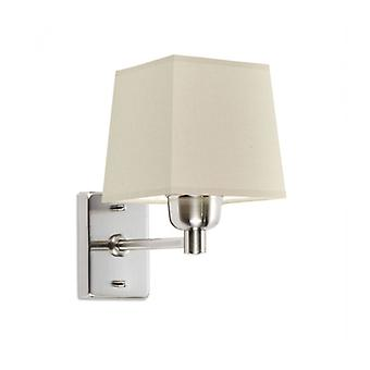 Dover Wall Lamp, Satin Nickel, Without Lampshade