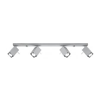Merida Ceiling Light Gray Steel 4 Bulbs