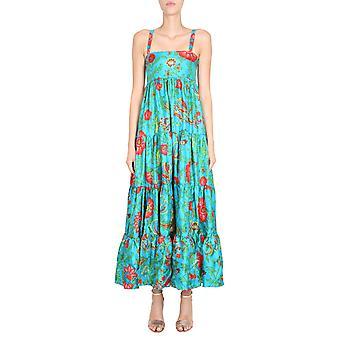 La Double J Dre0042sil001dra0005 Women's Light Blue Silk Dress