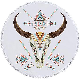 Multi värillinen Bull Skull ranta pyyhe