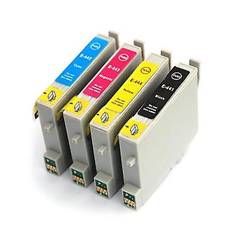 RudyTwos Replacement for Epson Parasol Set Ink Cartridge Black Cyan Magenta & Yellow Compatible with Stylus C64, C64 Photo Edition, C66, C66 Photo Edition, C68, C84, C84N, C84WN, C84 Photo Edition, C8