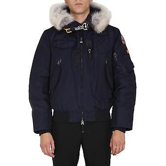 Parajumpers Pmjckma01p02562 Men's Blue Nylon Outerwear Jacket