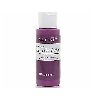 Blackberry Docrafts Artiste All Zweck Acryl Handwerk Farbe - 59ml