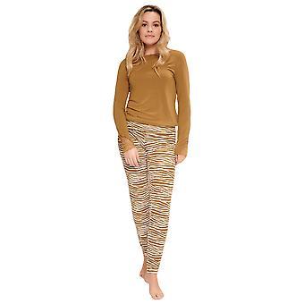 LingaDore Butternut Tütsü 5624-173 Kadın&beyaz & Bej Zebra Pijama Takımı