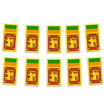 Pack of 3 Sri Lanka Bunting 15m Polyester Fabric Cricket Sport Country