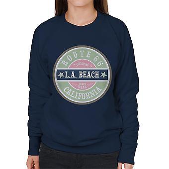 Route 66 original LA Beach slitage kvinnors Sweatshirt