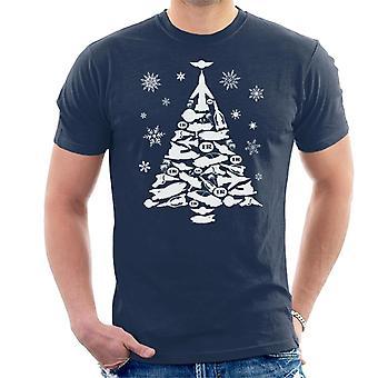 Thunderbirds Icon Christmas Tree miesten ' s T-paita