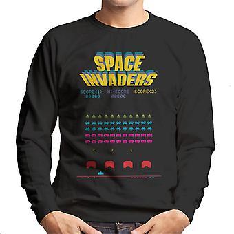 Space Invaders 1978 Arcade Game Play Men's Sweatshirt