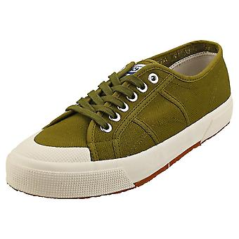 Superga 2390 Cotu Miltary Mens Casual Trainers in Green