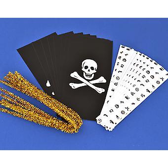 Cracker Wraps & Ties for 8 Crackers - Pirata