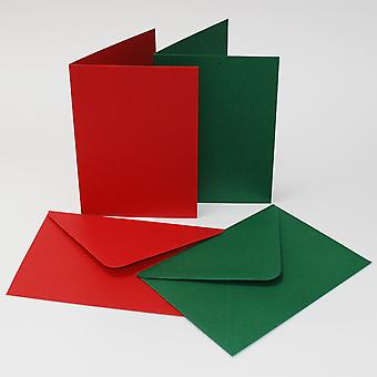 Craft UK Cards & Envelopes 6x6 Inch Red & Green
