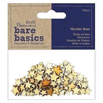 Бумажные деревянные звезды