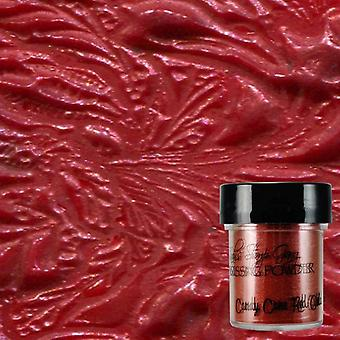 Lindy's Stamp Gang Candy Cane Red Gold Embossing Powder