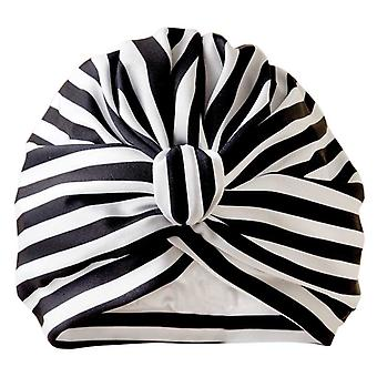 Dilly Daydream Stripey Black Luxury Shower Turban